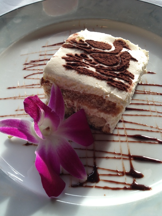 Getting our just desserts at Bay View Restaurant in Bodega Bay.