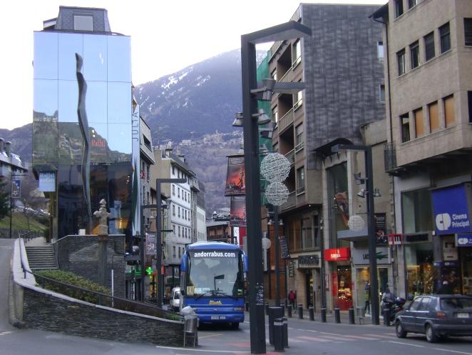 City center of Andorra la Vella