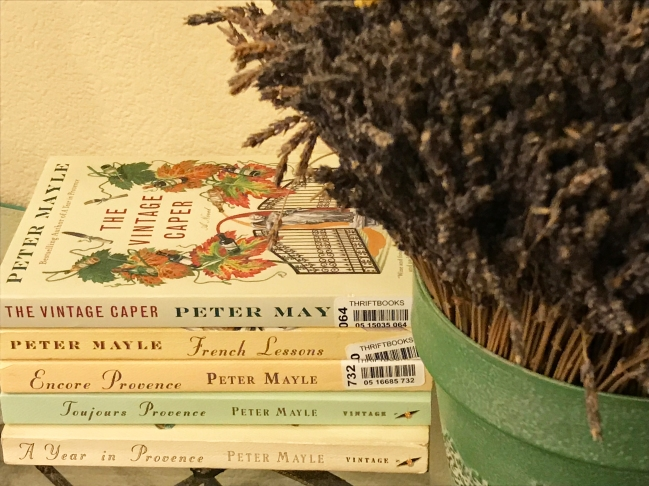 My collection of Peter Mayle books